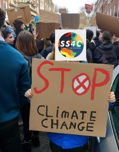 Climate strike with icon